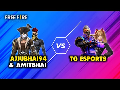 Ajjubhai94 and Amitbhai vs Total Gaming eSports Must Watch Gameplay Garena Free Fire