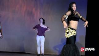 Indian college girls showing their BEST dance