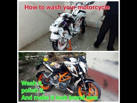 Xxx Mp4 How To Wash Your Motorcycle KTM Duke 390 Make It Look Brand New 3gp Sex
