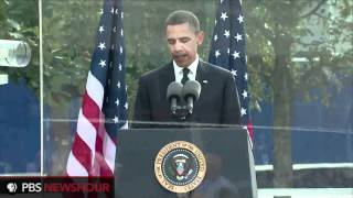 President Obama Delivers Reading at Ground Zero on 9/11 Anniversary