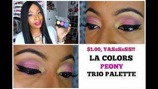 "L.A. COLORS ""PEONY"" TRIO PALETTE 