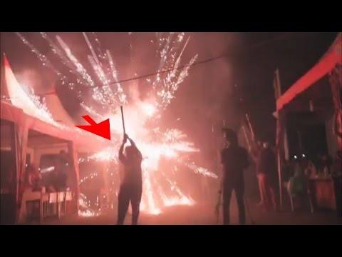Kembang Api Meledak Ditangan! Tahun Baru 2017! Korban Dilarikan Ke RS
