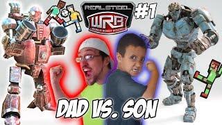 Dad vs. Son!  Real Steel World Robot Boxing! Fatboy & Ambush Multiplayer WRB Gameplay | FGTEEV #1