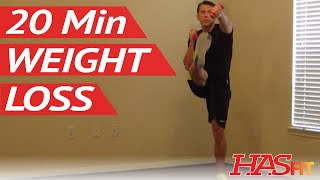 20 Minute Aerobics Workout for Weight Loss - HASfit Aerobic Exercises at Home - Aerobic Training