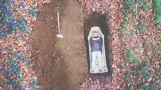 I Spent the Night in a Homemade Coffin Buried Alive & It Went Too Far (Sleep in a Coffin Challenge)