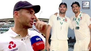 James Anderson Fights Back Tears As He Pays Tribute To Retiring Alastair Cook
