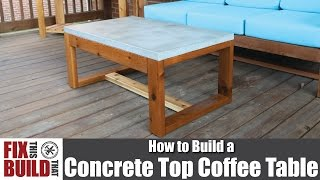 DIY Concrete Top Outdoor Coffee Table   How to Build