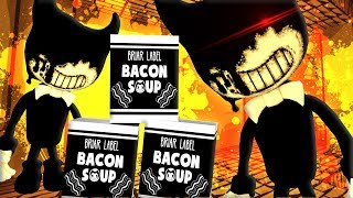 DON'T TOUCH MY BACON SOUP!! BENDY AND THE INK MACHINE CREW PLAYS MINECRAFT!!