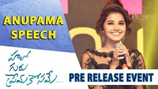 Anupama Parameswaran Speech - Hello Guru Prema Kosame Pre-Release Event - Ram Pothineni, Anupama