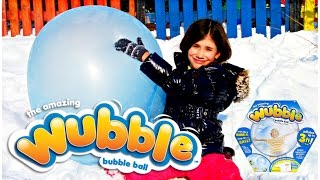 WUBBLE BUBBLE BALL - Winter Fun playtime outside with GIANT BALL