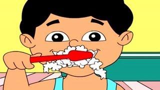 Nursery Rhymes - Tooth Brush, ' English Animation'