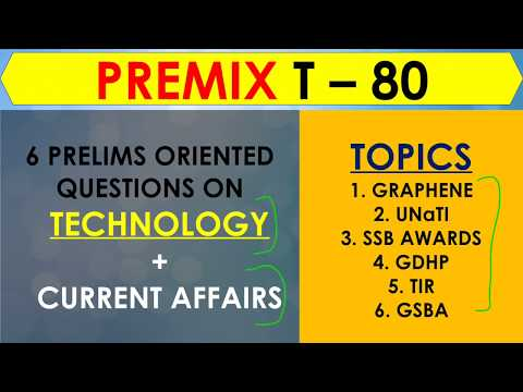 Revamped PreMix 80 Days to Prelims TECHNOLOGY Current Affairs