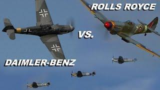 3x MESSERSCHMITT Bf-109 vs. SPITFIRE | Hangar 10 Fly In 2018
