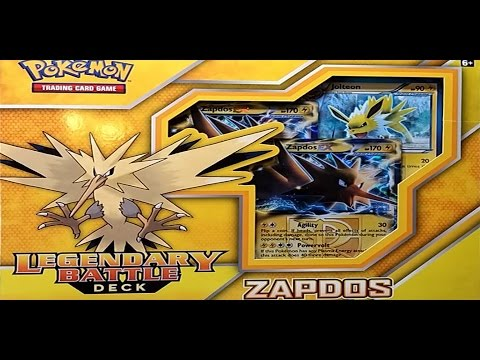 OPENING A NEW ZAPDOS LEGENDARY BATTLE DECK! - POKEMON UNWRAPPED