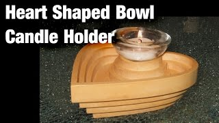 Heart shaped Bowl - Candle Holder / Woodworking