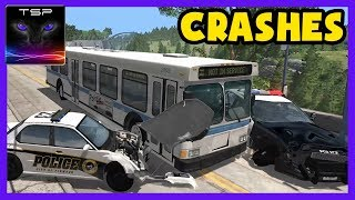 BeamNG drive ► City Bus CRASH TESTING and ACCIDENTS