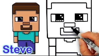 How to Draw Steve from Minecraft Cute and Easy for Beginners