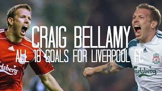 Craig Bellamy - All 18 Goals for Liverpool FC - 2006/2012 - English Commentary (Just Goals)