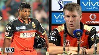 IPL 9 SRH vs RCB: Sarfaraz Played Brilliantly: Warner