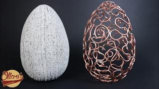 Make an Egg -xtraordinary Copper Wire & Faux Granite Egg