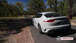 2018 Kia Stinger GT 0-100km/h & engine sound