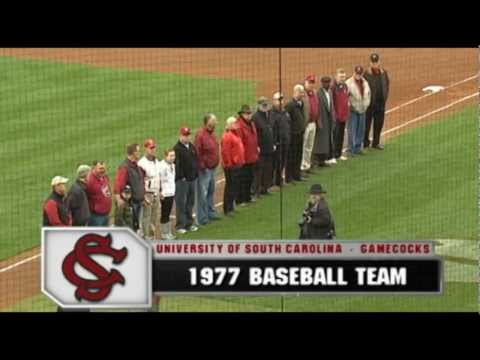 Honoring 1977 South Carolina Baseball Team - College World Series Finalists