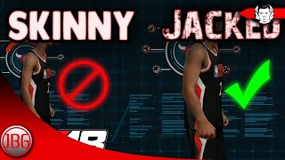 GAIN MUSCLE With YOUR PLAYER IN NBA 2K18? NBA 2K18 My Career Tips and Tricks by JackedBillGaming