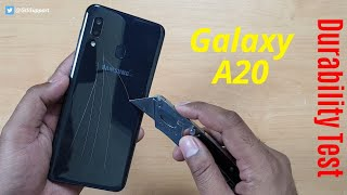 Samsung Galaxy A20 Durability Test   SCRATCH WATER BEND DROP   Gupta Information Systems   Hindi