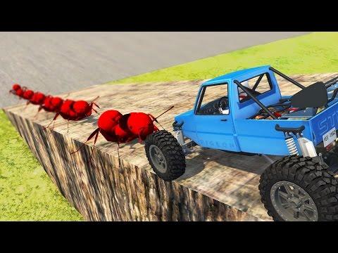 ANTS vs CAR MINI MOD BeamNG.Drive Funny Moments