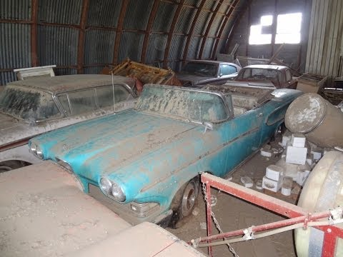AMAZING Edsel Barn Find Rare Cars Parked and Left. 1958 Pacer Convertible Rangers Dodge Charger