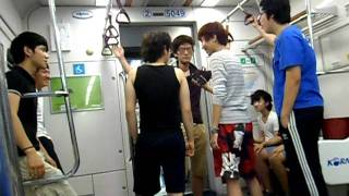 Lee Seol: korean boy playing in the subway
