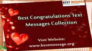Sample Congratulations Messages | Congratulation Quotes & Wishes