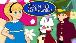 Alice No País Das Maravilhas - Historia completa - Desenho animado infantil com Os Amiguinhos