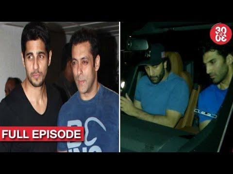 Salman Gets Sidharth On Board For 'Race 3' | Ranbir-Aditya Meet Up For A Dinner