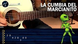 Como tocar La Cumbia del Marcianito 100% Real no fake en Guitarra | Tutorial Punteo TABS