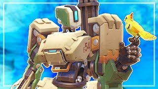 FIRST TIME PLAYING BASTION! (Overwatch)