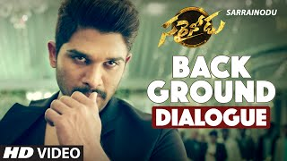 Back Ground Dialogue || Sarrainodu Dialogues || Allu Arjun, Rakul Preet || SS Thaman