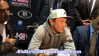 GOLOVKIN AWARE PACQUIAO BEAT BIGGER GUYS WITH EASE; WON'T FALL VICTIM TO OWN ADVANTAGES WITH BROOK