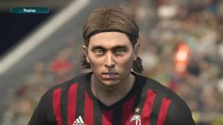 AC Milan Player Faces - Pro Evolution Soccer 2017