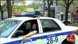 إفزاع شرطي نائم بتفجير كيس ورقي