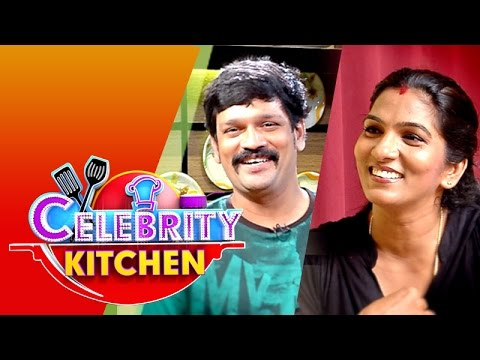 Actor Ganesh Babu & Actress Shanthi in Celebrity Kitchen (12/07/2015)