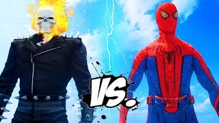 Ghost Rider vs Spiderman - The Amazing Spider-Man vs Ghost Rider