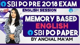 SBI PO   MEMORY BASED PAPER OF SBI PO   ENGLISH   ANCHAL MAM