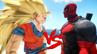 DEADPOOL VS GOKU - EPIC BATTLE