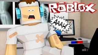 Roblox - QUEBREI MEUS OSSOS !! (Roblox Broken Bones)