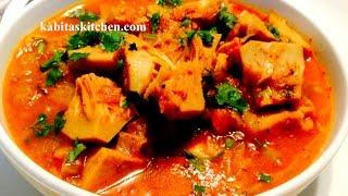 Raw Jack Fruit Curry Recipe-Echorer Dalna- Kathal ki sabzi-Easy and Authentic Jackfruit Curry