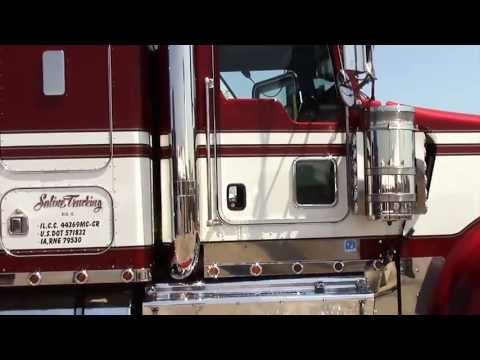 Paul Saline 2009 Kenworth W900L Looking good at the 2013 Truckers Jamboree