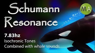 Schumann Resonance 7.83hz Isochronic Tones, With Underwater Sounds and Whales