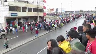 Carrera de coches en Ambato 2016 - Accidente curva del estadio Bellavista