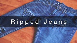How I Rip My Jeans   Tutorial